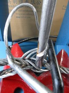 人工插编钢丝绳