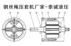 钢丝绳压套机油缸